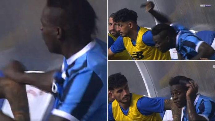 Mario Balotello goes berserk after being substituted